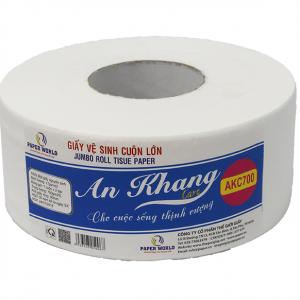 Giấy vệ sinh cuộn lớn An Khang caro700