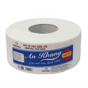 AKC700 - giấy vệ sinh cuộn lớn an khang caro700