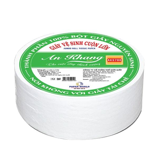 Đơn vị cung cấp giấy vệ sinh cuộn lớn An Khang Soft 700